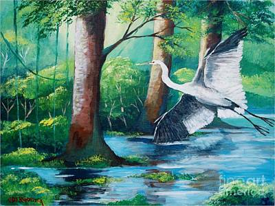 Painting - The Crane by Jean Pierre Bergoeing