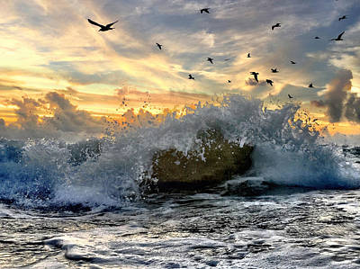 Photograph - The Crash Of The Wave. by Andrew Royston