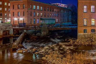 Photograph - The Crashing Neponset River by Brian MacLean