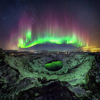 Photograph - The Crater by Sigurdur William Brynjarsson