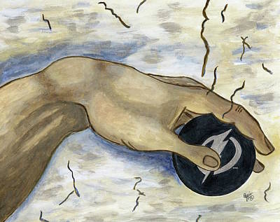 Painting - The Creation Of Tampa Bay Lightning Hockey by Stephanie Agliano