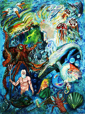 Painting - The Creation Of The Ocean by Peter Bonk