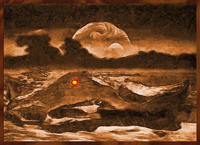 Deep Space Art Mixed Media - The Creature Eye by Mario Carini