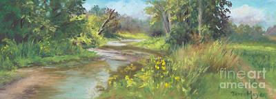 The Creek At 1302 Art Print by Terri  Meyer