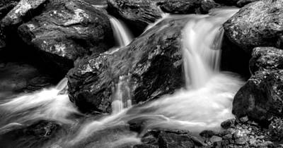 Photograph - The Creek In Black And White by Greg Mimbs
