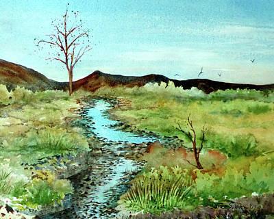 Soaring Painting - The Creek Irvine Regional by Janice Sobien