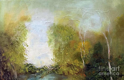 Painting - The Creek by Marlene Book