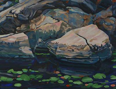 Painting - The Creek Rocks by Phil Chadwick