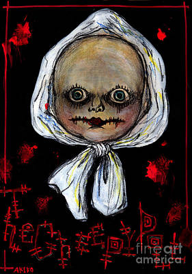 Creepy Mixed Media - The Creepy Doll by Akiko Okabe