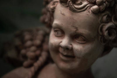 Photograph - The Creepy Statue by Brian Hale