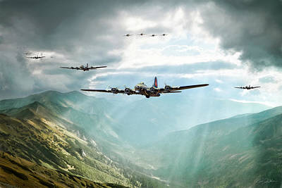 B-17 Wall Art - Digital Art - The Crest Of Ore by Peter Chilelli