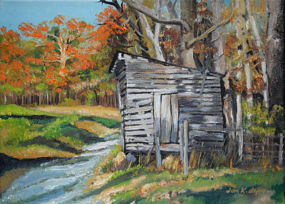 Painting - The Crib - Ellijay - Corncrib by Jan Dappen
