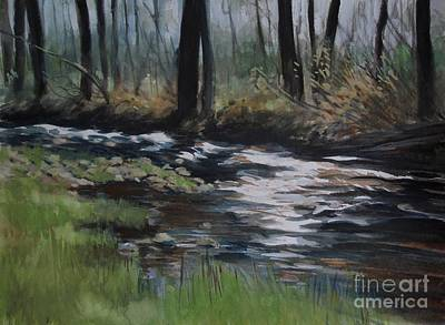 Rill Painting - The Crick by Emily MaCoy