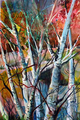 Grace Mixed Media - The Cries Of Autumn by Mindy Newman