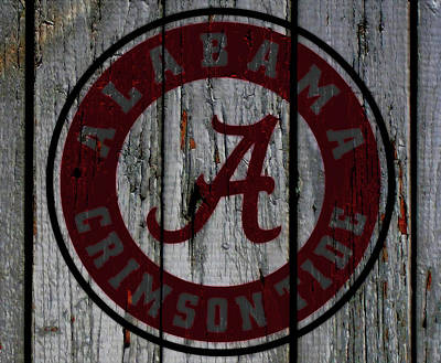 Clemson Mixed Media - The Crimson Tide 01w by Brian Reaves