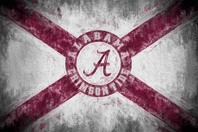 Photograph - The Crimson Tide State Flag by JC Findley