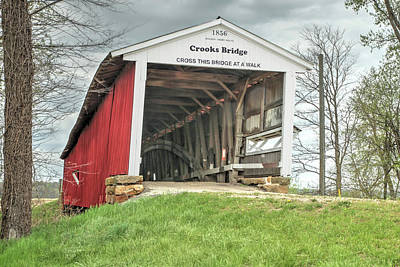 Photograph - The Crooks Covered Bridge by Harold Rau
