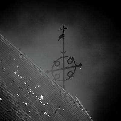 Photograph - The Cross. Bw The Church Of St Mary In Sastamala by Jouko Lehto