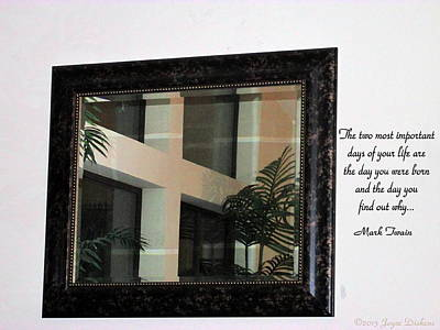 Photograph - The Cross In The Mirror by Joyce Dickens