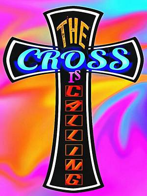 The Cross Is Calling Art Print by Michelle Greene Wheeler