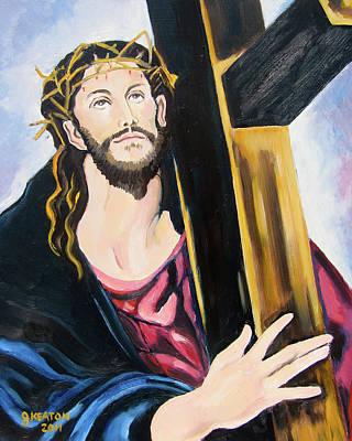 Painting - The Cross by John Keaton