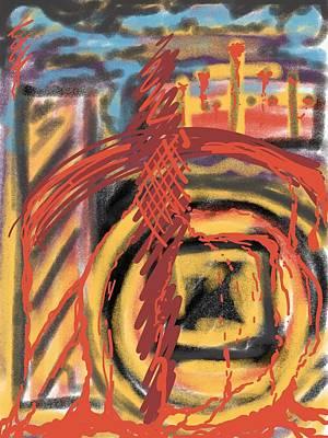 Digital Art - The Cross Over by Robert Watson