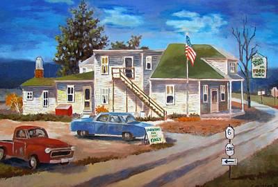 Painting - The Cross Roads by Tony Caviston