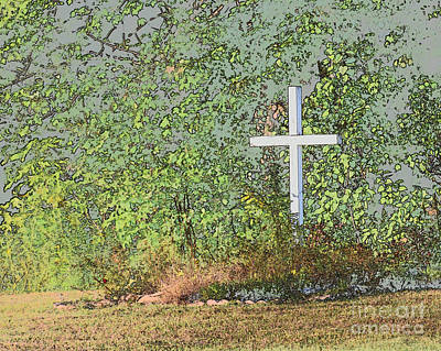 Photograph - The Cross by Ronald Grogan