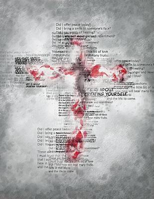 The Cross Speaks Art Print