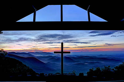 The Cross Unmerited Love Pretty Place Chapel Art Print by Reid Callaway
