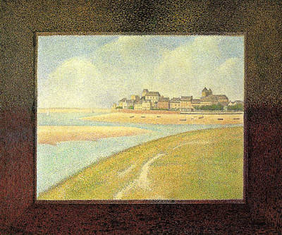 Marine Painting - The Crotoy, Upstream by Georges Seurat