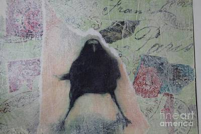 Art Print featuring the painting The Crow Called The Raven Black by Kim Nelson
