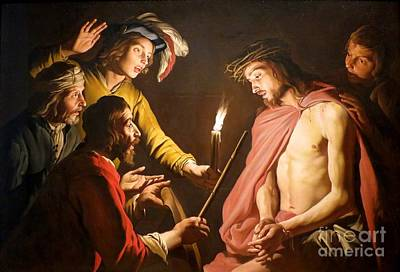 Night Lamp Painting - The Crown Of Thorns by MotionAge Designs