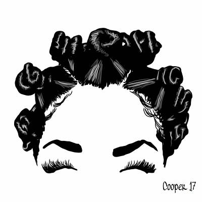 Black Kinky Hair Digital Art - The Crown You Will Always Wear 5 by April Cooper