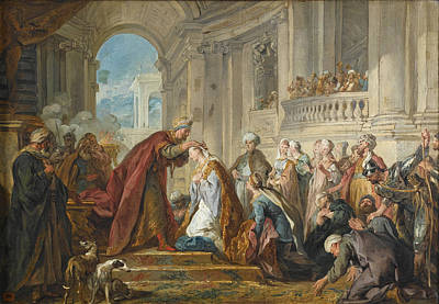 Esther Painting - The Crowning Of Esther by Jean-Francois Detroy