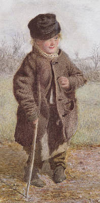 Crutch Painting - The Croydon Cowboy by Frederick Walker