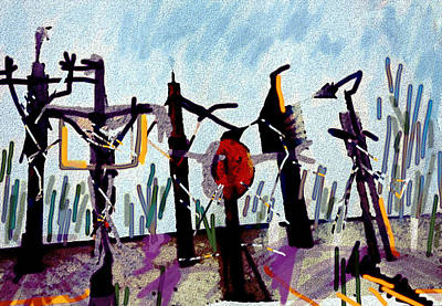 The Crucified...after Picasso Art Print by Paul Sutcliffe