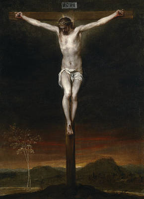 Spanish Art Painting - The Crucifixion by Alonzo Cano