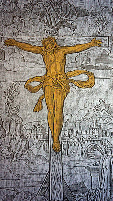 Brass Rubbing Photograph - The Crucifixion by Don Columbus