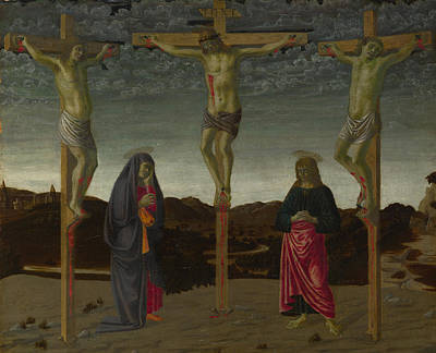 Digital Art - The Crucifixion by Francesco Botticini