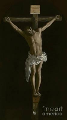 Crucifix Wall Art - Painting - The Crucifixion by Francisco de Zurbaran