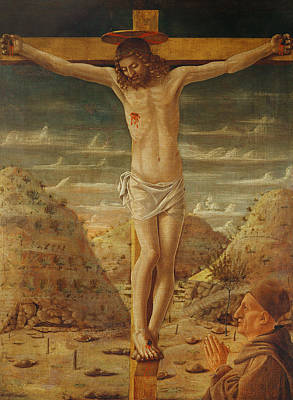 Crucifix Art Painting - The Crucifixion by Giovanni Bellini