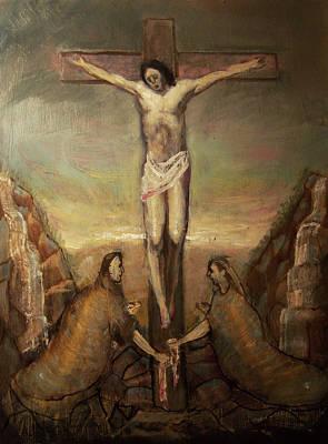 The Crucifixion Of Christ Art Print by Derek Van Derven
