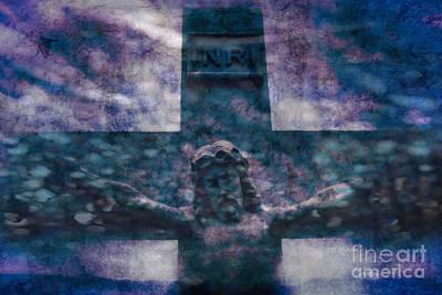 Digital Art - the Crucifixion of Jesus by Ella Kaye Dickey