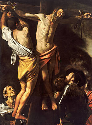 The Crucifixion Of Saint Andrew Art Print by Caravaggio
