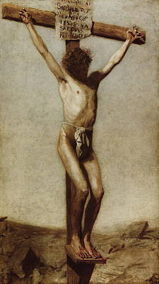The Crucifixion Print by Thomas Eakins