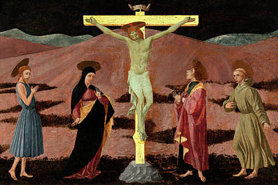 Photograph - The Crucifixion With The Virgin by Munir Alawi