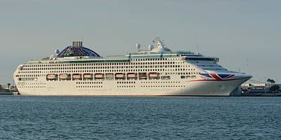Photograph - The Cruise Ship Oceana by Bradford Martin