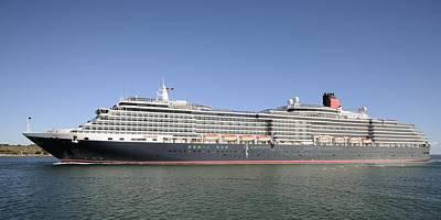 Cruise Ship Photograph - The Cruise Ship Queen Victoria by Bradford Martin
