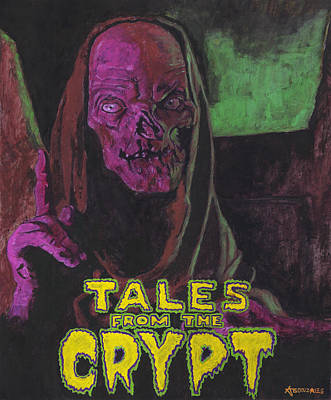 Horror Movies Painting - Tales From The Crypt With Text Logo Trademark by Aljohn Gonzales